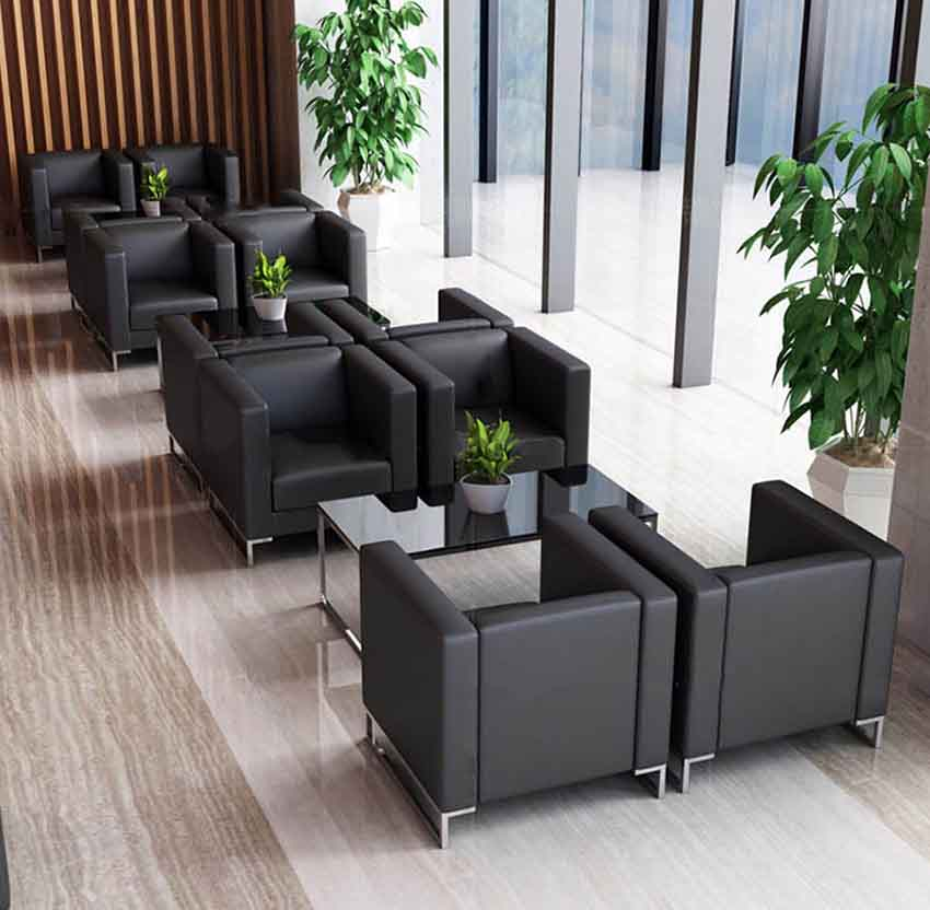 Office sofa in pu leather